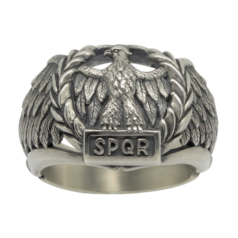 Roman Empire S P Q R Sterling Silver 925 Men S Ring Secretium